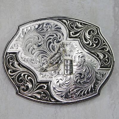 Montan Silversmiths Barrel Racer Flourish Belt Buckle