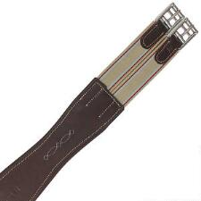 M Toulouse Shaped Leather Overlay Girth - TB