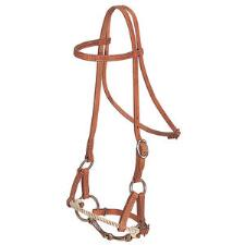 Weaver Half Breed Rope Nose Training Headstall with Snaffle - TB