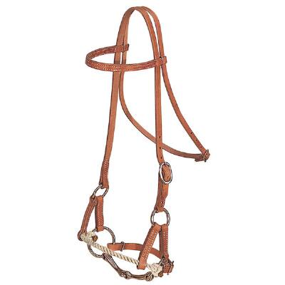 Weaver Half Breed Rope Nose Training Headstall with Snaffle