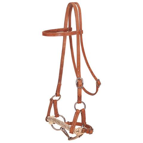 Half Breed Headstall Double Rope