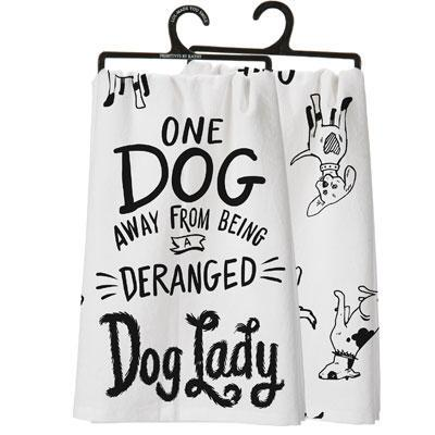 Dog Lady Dish Towel