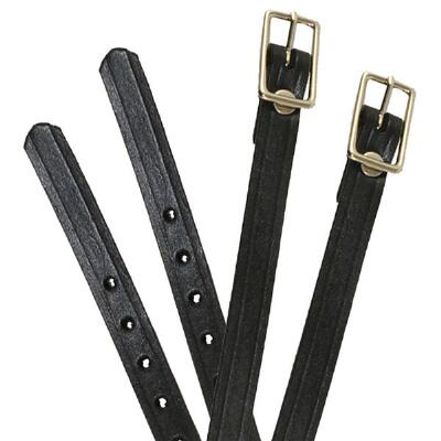 Weaver English Spur Strap Black Leather - Youth