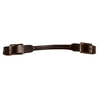 Weaver Rounded Black Straight Leather Curb Strap