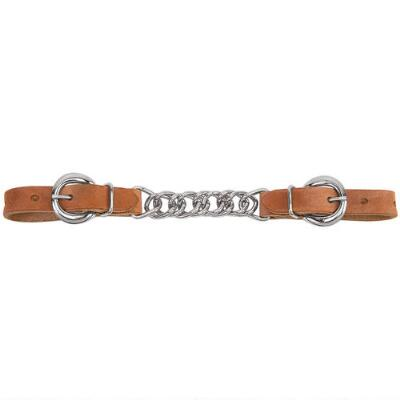 Curb Chain Harness Leather 3.5in Flat Link