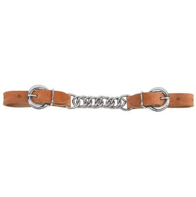 Harness Leather Single Flat Link Curb Chain 3.5 in