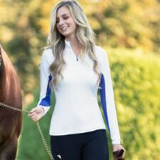 Irideon White-Azurite Cooldown IceFil Jersey Ladies Show Shirt - TB