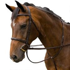 M Toulouse Raised English Bridle with Covered Reins