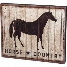 Horse Country Barnwood Sign - TB