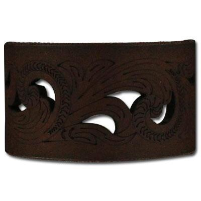 Blazin Roxx Laser Cut Scrollwork Leather Cuff