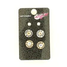 Blazin Roxx Shotgun Shell Earring Set