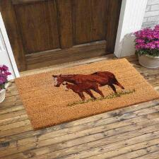 Welcome Mare and Foal Entrance Mat - TB