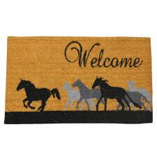 Welcome Horses Running Entrance Mat - TB