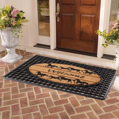 Welcome Horses Entrance Mat