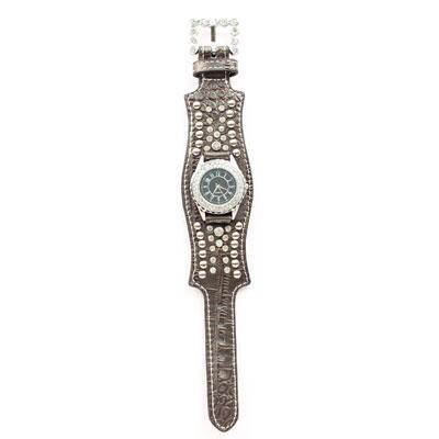 Croc and Crystal Ladies Watch