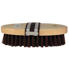Wood Back Oval Nylon Bristle Cowboy Brush - TB