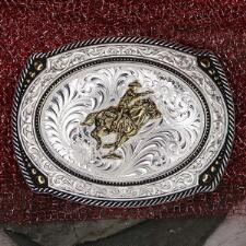 Montana Silversmiths Mounted Shooter Cameo Belt Buckle - TB