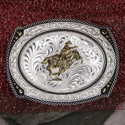 Montana Silversmiths Mounted Shooter Cameo Belt Buckle