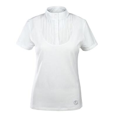 Pleat Front Short Sleeve Ladies Technical Shirt