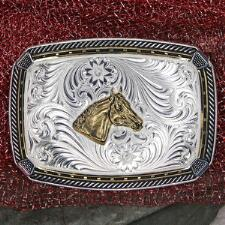 Montana Silversmiths Two-Tone Four Corners Belt Buckle - TB