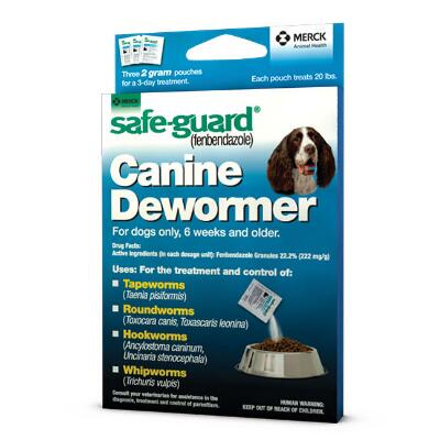 Merck Safe Guard Canine Dewormer 20 lb Dog