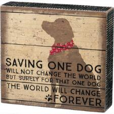One Dog Box Sign - TB