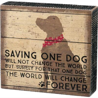 One Dog Box Sign