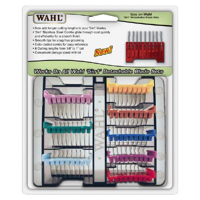 Wahl Pet Guide Comb Set 5 In 1 Stainless Steel