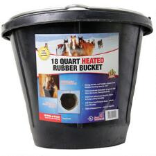 Water Bucket 18 Qt. Heated Rubber Flat Back - TB