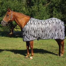 Tough 1 Zebra Print Mesh Fly Sheet - TB