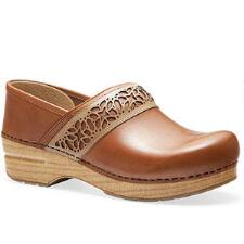 Dansko Pavan Caramel Full Grain Stapled Ladies Clog