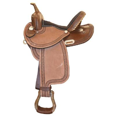 Dakota RO Barrel Saddle 14 Inch Dark Oil