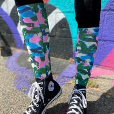 Dreamers and Schemers Camo Horse Boot Socks Pair and A Spare - TB