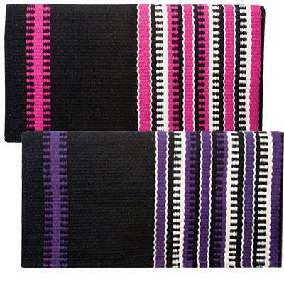 Reversible Patterned New Zealand Wool Saddle Blanket