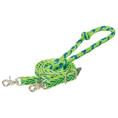 Weaver Lime Waxed Braided Nylon Barrel Reins