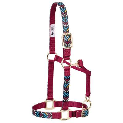 Weaver Adjustable Nylon Halter - Insignia Pattern
