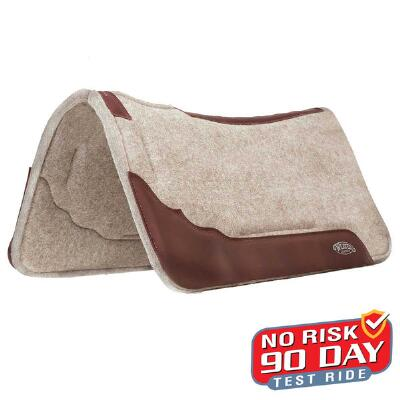 Weaver Synergy Contoured Wool Blend Western Saddle Pad 33x32