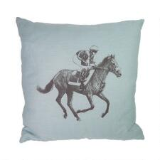 Ox Bow Decor Sketch Horse & Jockey 20x20 Decorator Pillow - TB