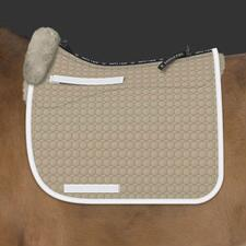 EA Mattes Custom Gold Dressage Square Pad Bound & Double Piped - TB