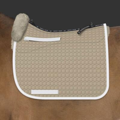 Mattes Custom Gold Dressage Square Pad Binding and Piping