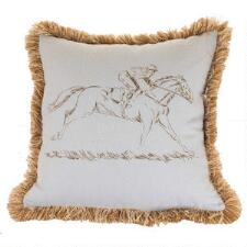 Ox Bow Race Horse 20x20 Deorator Pillow - TB