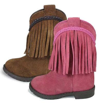 Hopalong Fringe Zip Toddler Western Boot