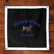 Stall Plaque Custom Deluxe Design Full Color Logo - TB