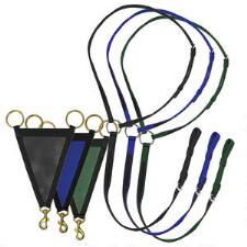 Thoroughbred 2-Tone Nylon Race Martingale Set - TB
