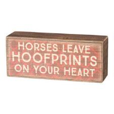 Hoofprints Box Sign - TB