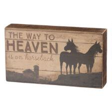 Way to Heaven Box Sign - TB