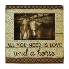 Love and a Horse Box Picture Frame - TB