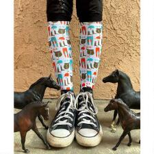 Dreamers and Schemers Mare Goods Tack Boot Socks Pair and a Spare - TB