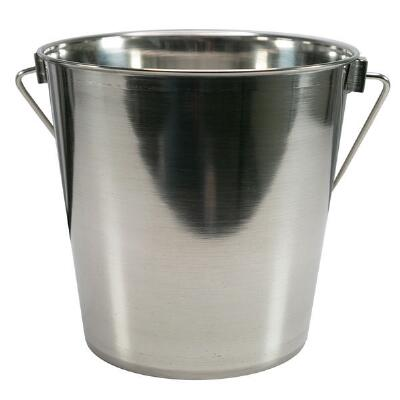 Heavy-Duty Stainless Steel Bucket Pail - 6 Quart