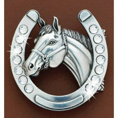 Blazin Roxx Horseshoe Belt Buckle